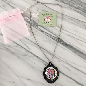 Tarina Tarantino Jewelry - Hello Kitty Pink Head - Mod Necklace